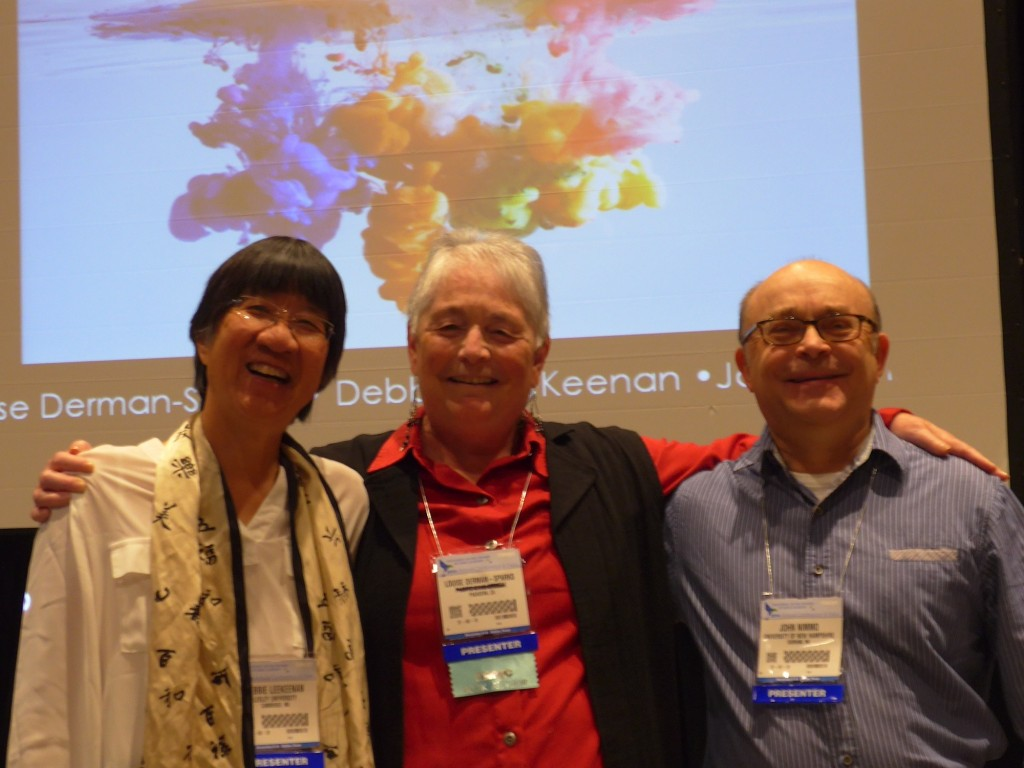 Debbie LeeKeenan, Louise Derman-Sparks, John Nimmo at NAEYC