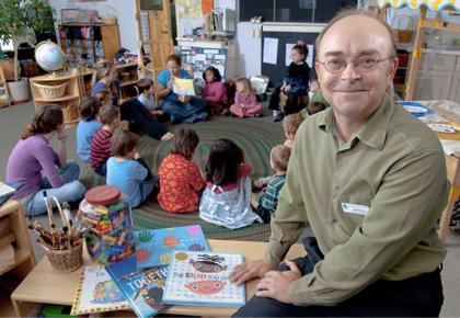 John Nimmo in classroom